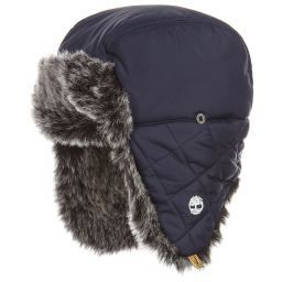 4949aa6ccb7aa Timberland - Boys Blue Trapper Hat | Childrensalon | AW19/20 ...