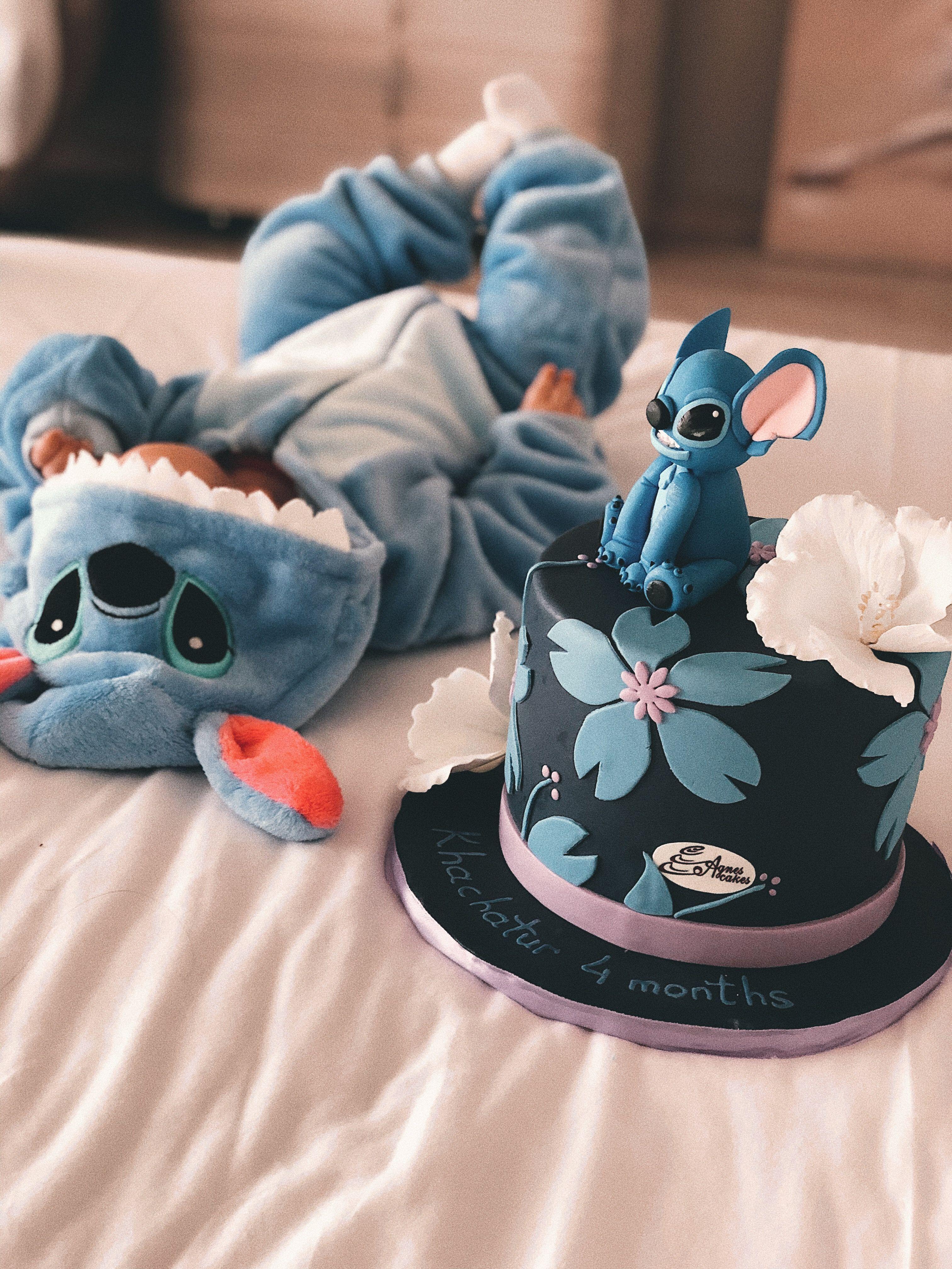 Baby stitch in 2020 stitch cake cute babies birthday