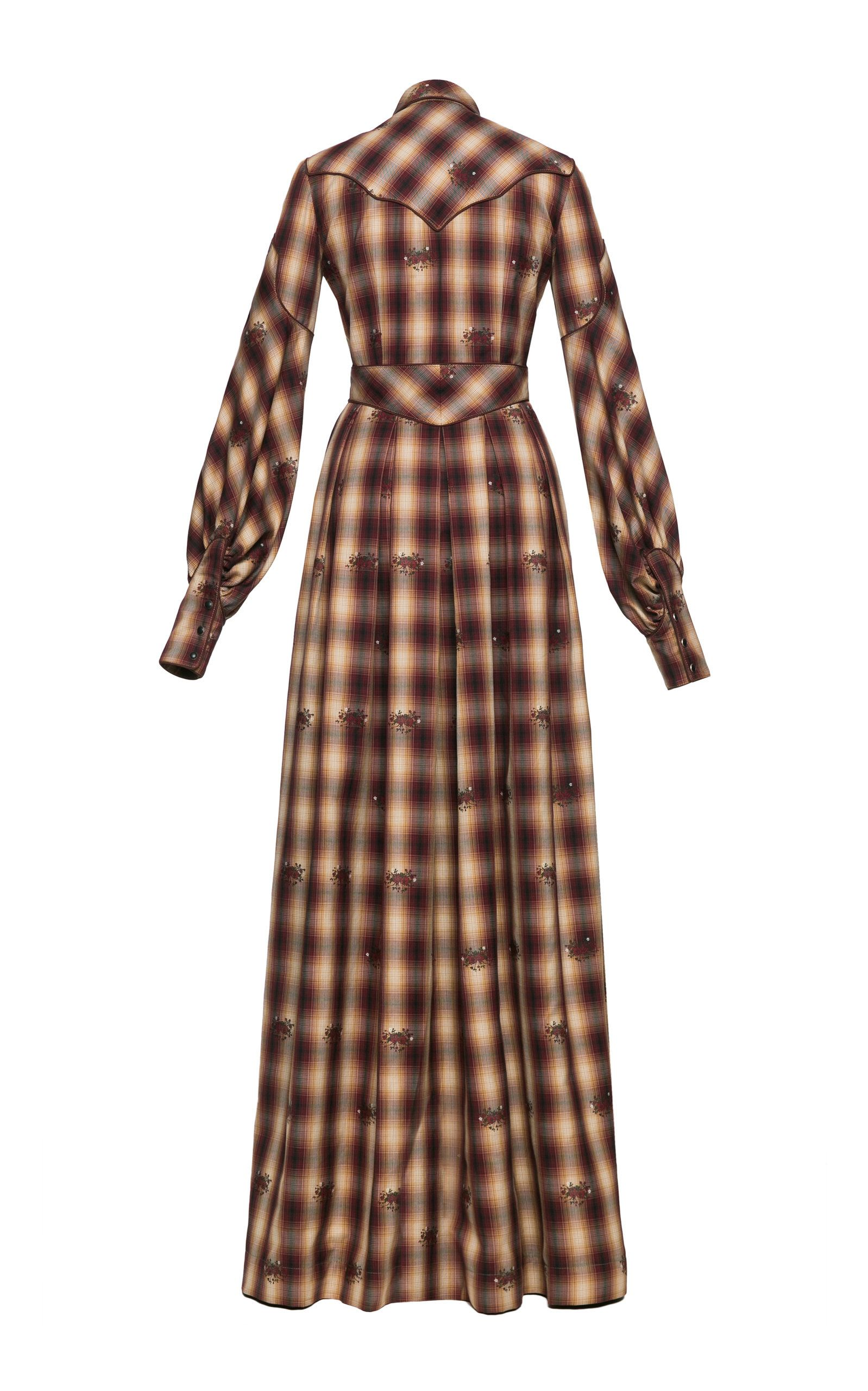 Lena Hoschek Dallas Western Checked Cotton Maxi Dress | Maxi