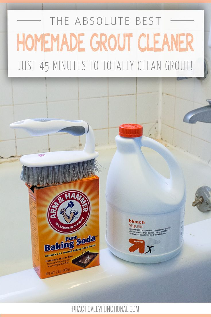 Need To Clean Grout In Your Bathroom Or Kitchen? This Is The Absolute BEST  Homemade