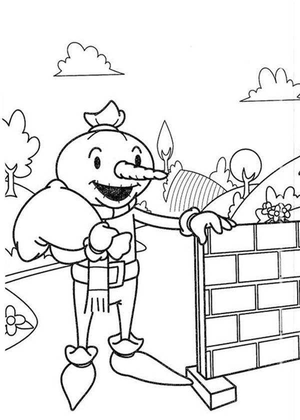 Spud The Scarecrow Want To Help Bob The Builder Coloring