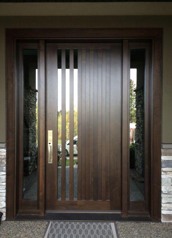 30 Unbelievable Front Door Ideas For Your Modern Home Wooden Front Doors Wooden Door Design Door Design Modern