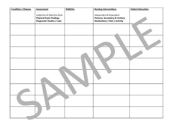 Blank Template II For Notes - PDF File | New Nurse | Nursing