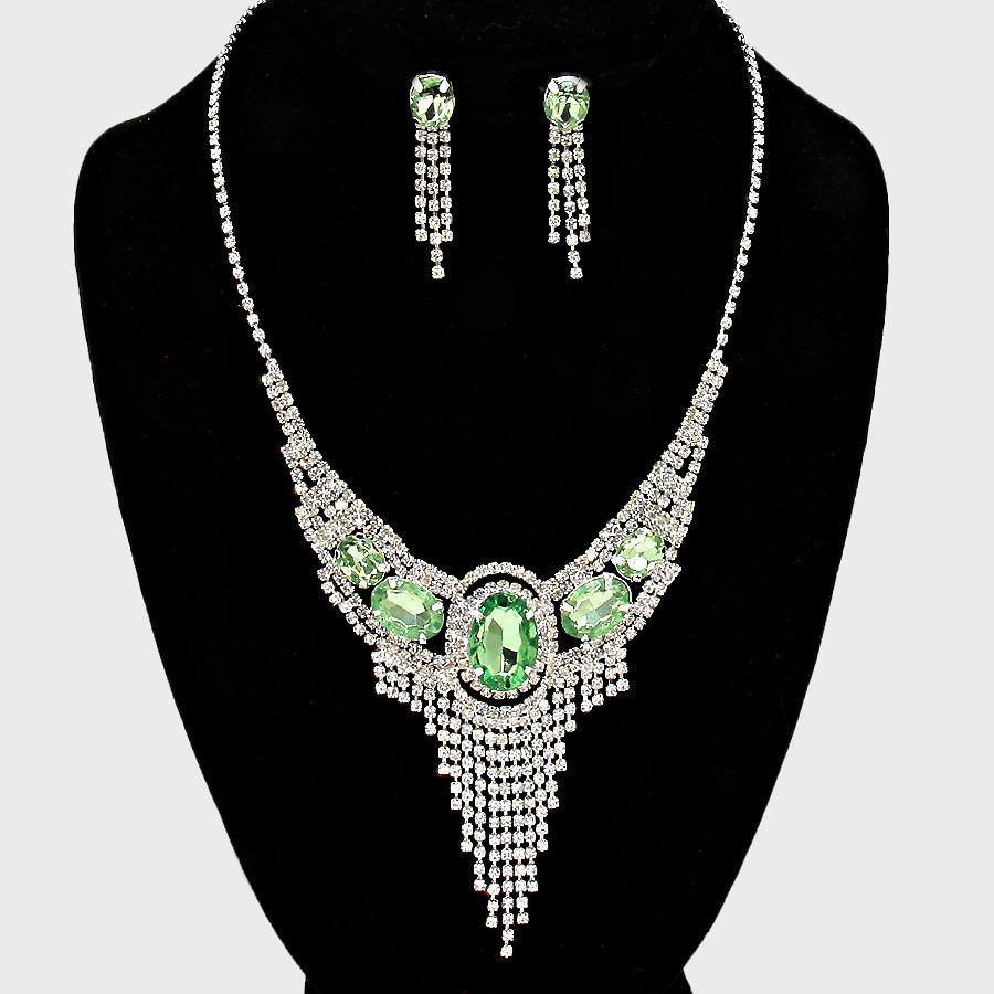 Skylar Rhinestone Necklace Set