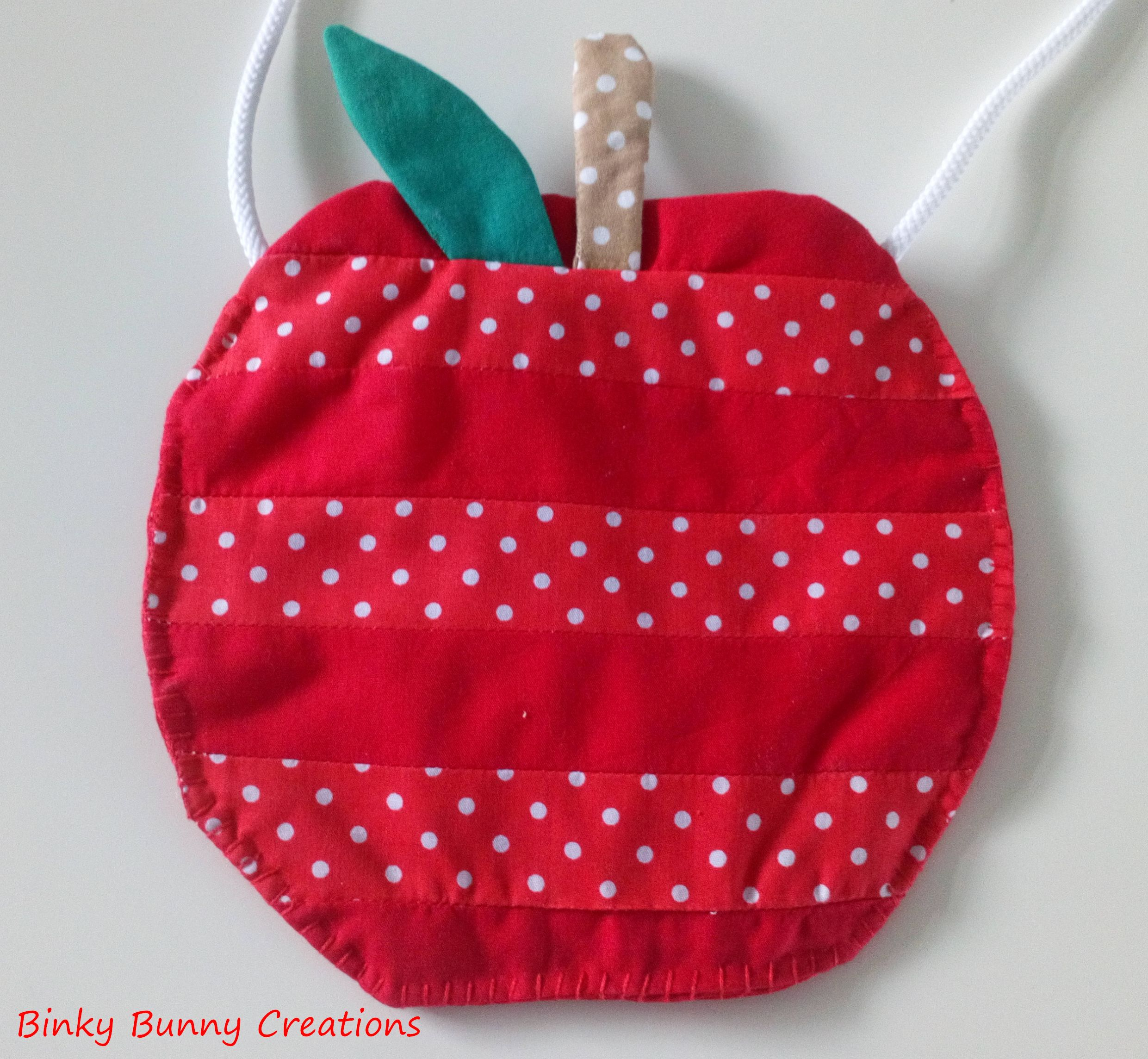 Patchwork Apple Bag Sewing Pattern Available For Instant