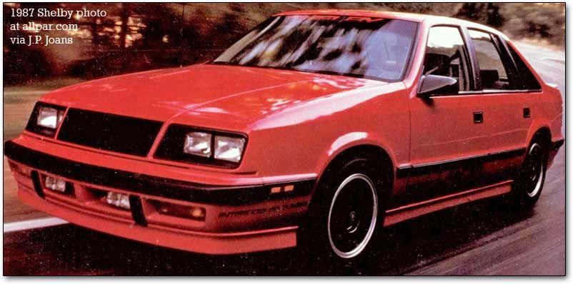 1987 Shelby Lancer Chrysler lebaron, Dodge, Turbo car