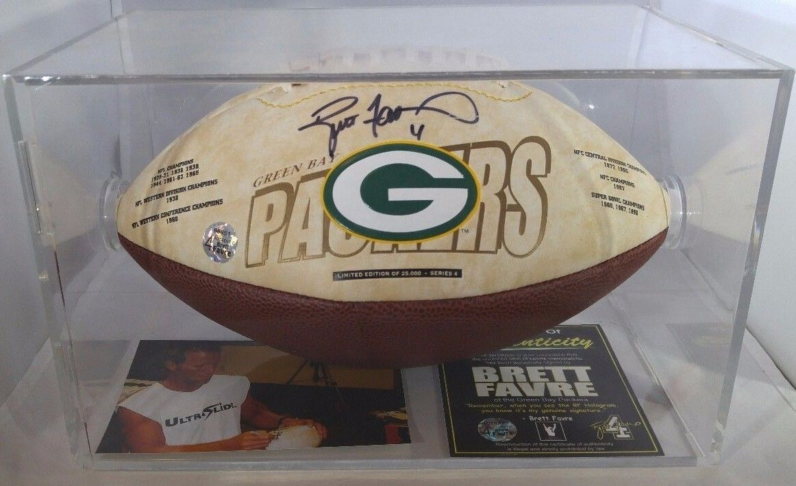 low priced 224aa 192c5 Rare Brett Favre Autographed Football W/ COA Limited Run of ...