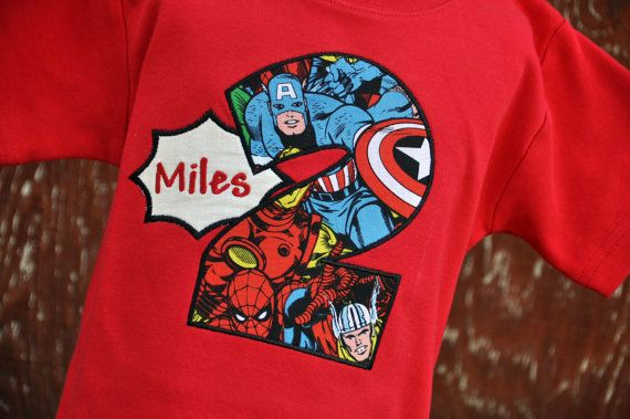 Personalized Superhero Kids Birthday Shirt By AddieKakesKreations 2350