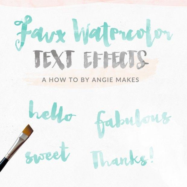 How To Make A Watercolor Text Effect Design For Free In Photoshop