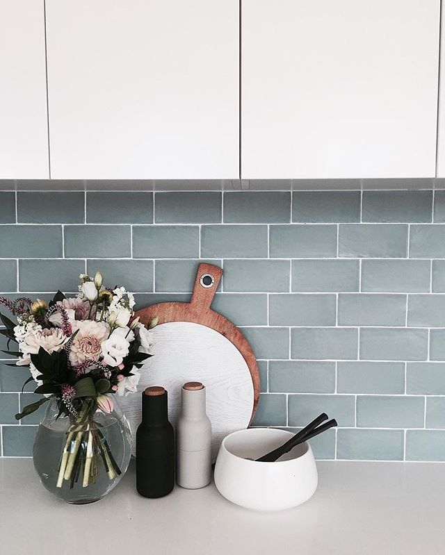 The interior stylists you should be following on instagram for Scandinavian kitchen backsplash