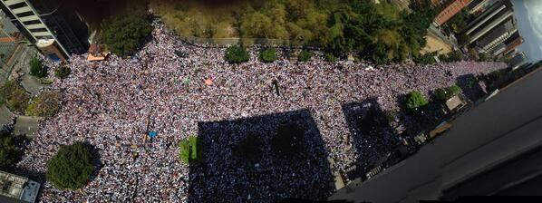 Chacaíto con Leopoldo López, Caracas, 18 de febrero 2014