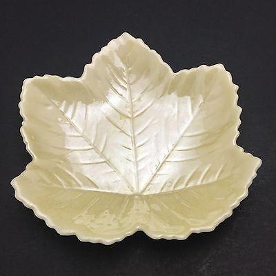 Details About Belleek Fine Irish Porcelain Leaf Dish Pin Trinket Holder 2nd  Green Mark