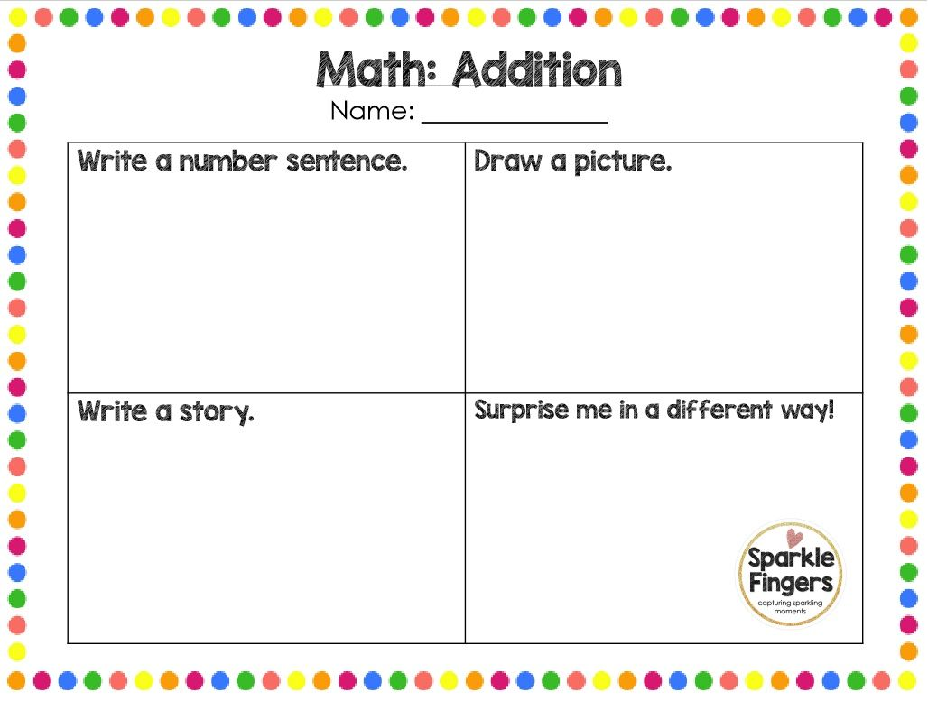 Math- Showing Understanding of Addition/Subtraction/Multiplication ...