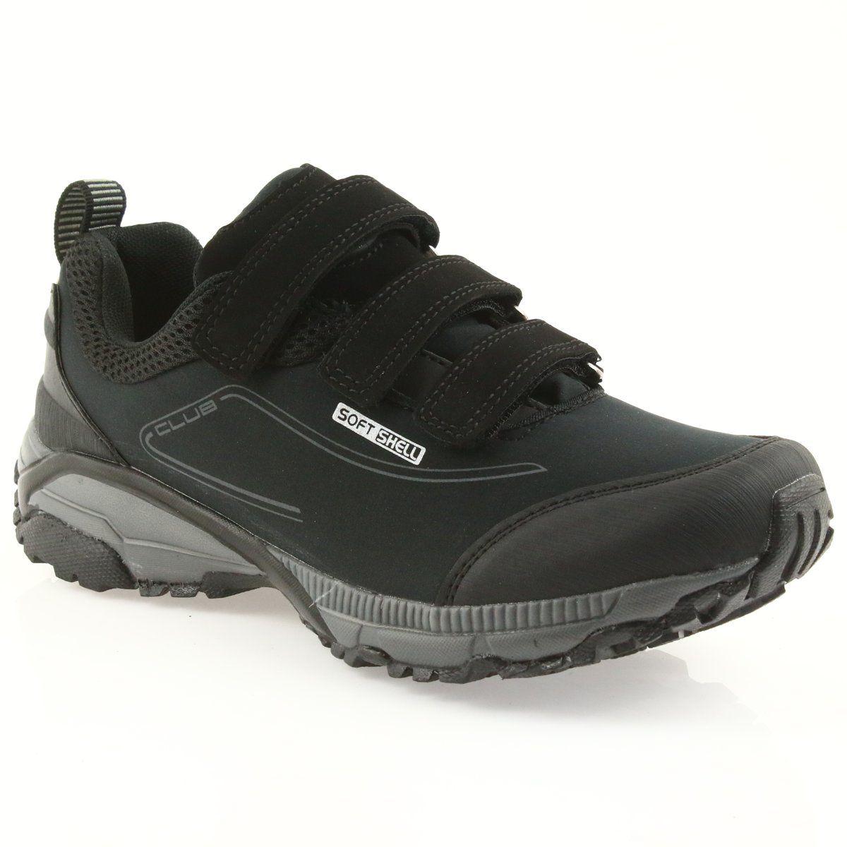 American Club Adi Buty Damskie Sportowe Na Rzepy American Wodoodporne Softhell Wt08 19 Czarne Sport Shoes Women Trekking Shoes Club Shoes