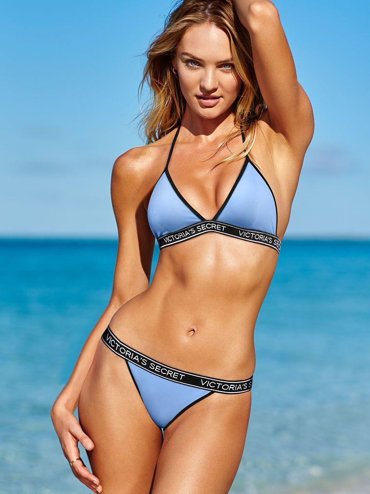 Swimwear Victoria Secret Bikini Top Only Bright Green Triangle Halter Neck Swim Pool S Women's Clothing
