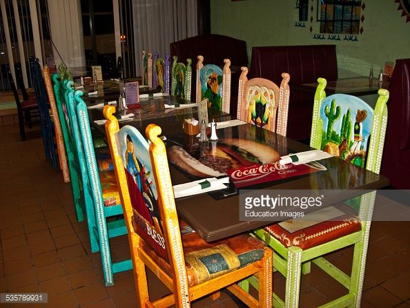 Mexican Restaurant Chairs The Diego RIvera inspired back of one
