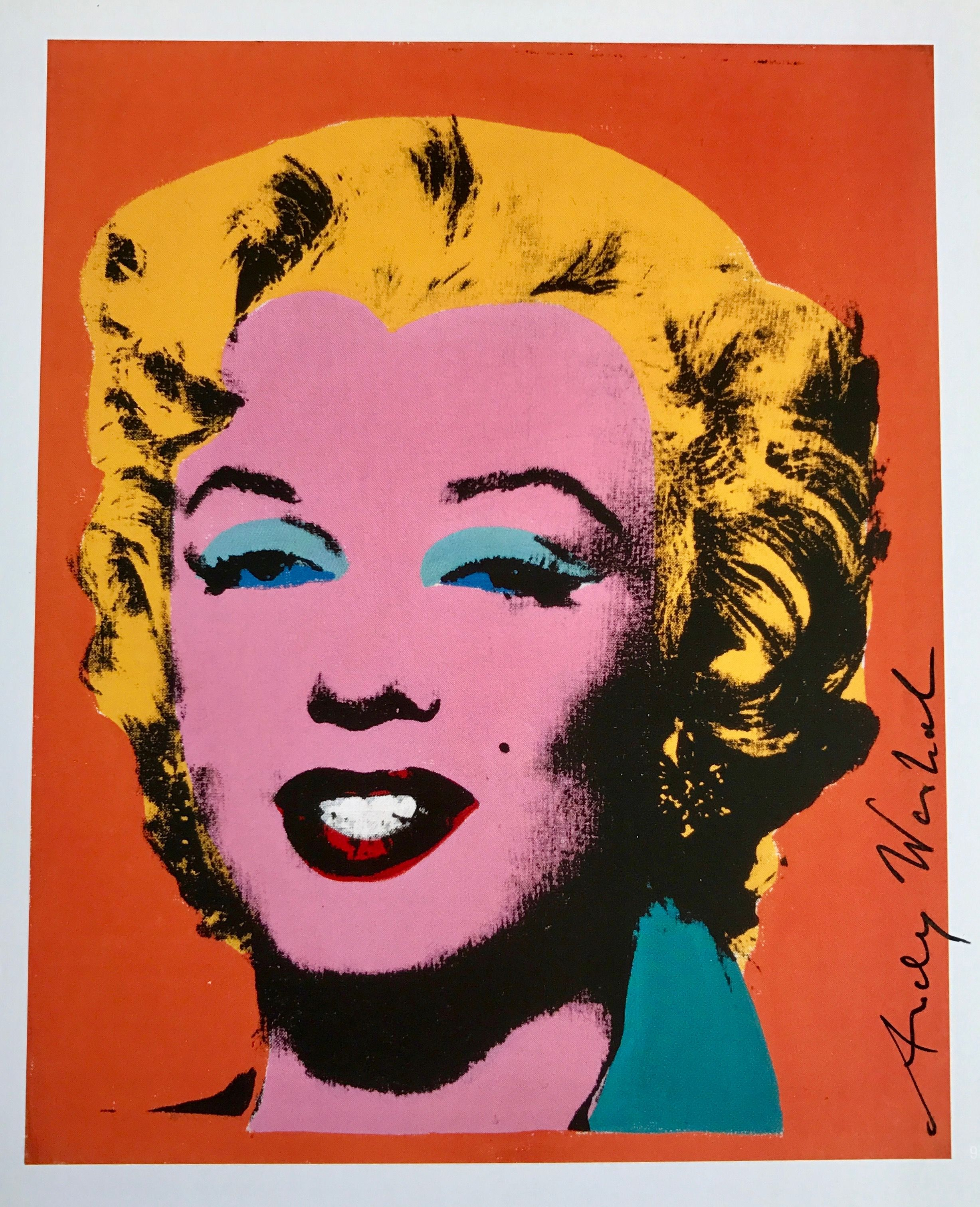 Orange Shot on White Background-1998 Poster Andy Warhol-Marilyn