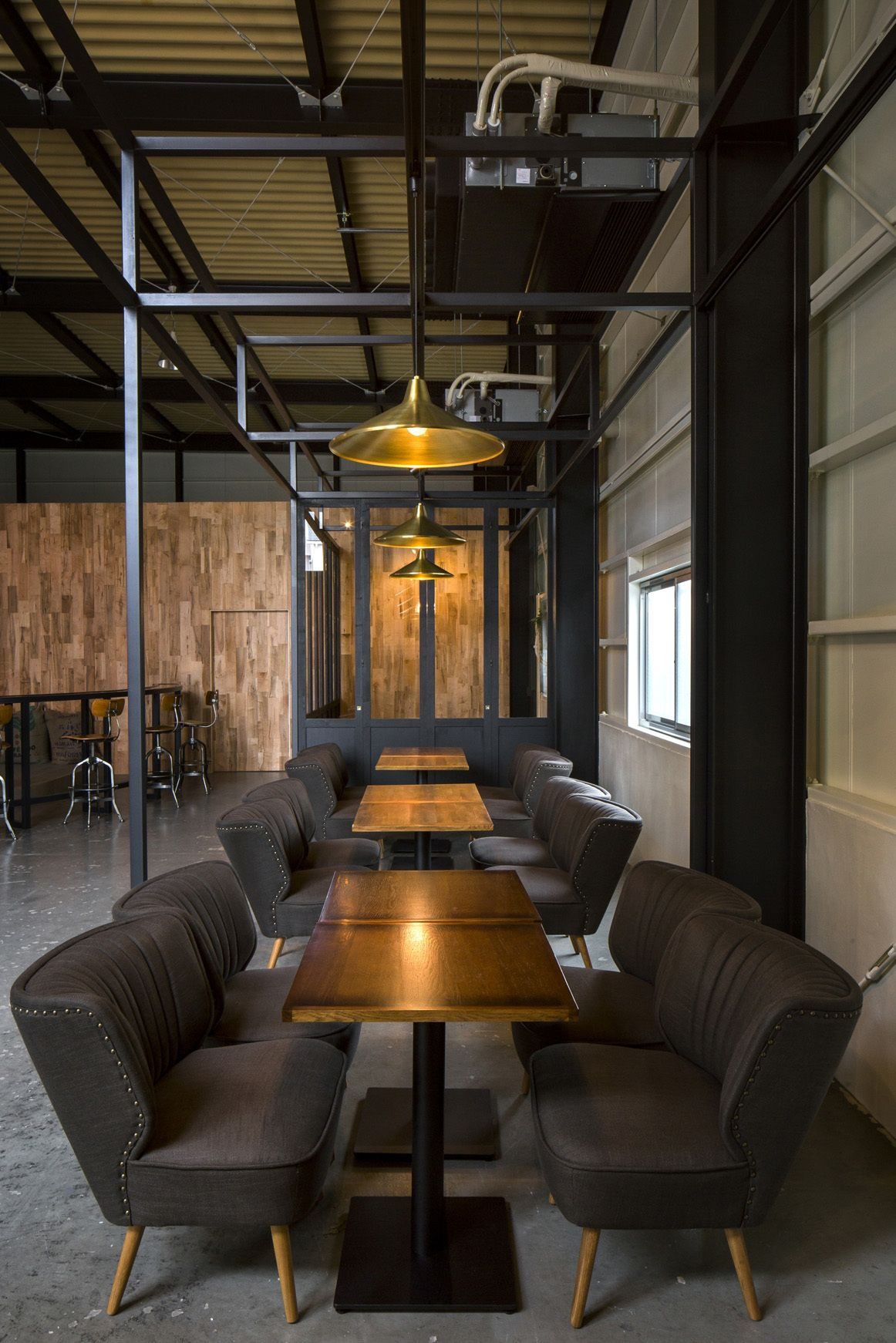 Industrial style coffee bar design photography