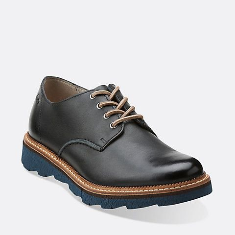 frelan walk black leather  men's oxfords and lace up