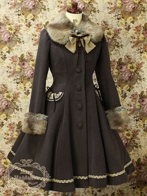 """Mary Magdalene   Mary Magdalen  """"Praline jitter Court"""". A doll's coat, but oh so pretty!"""