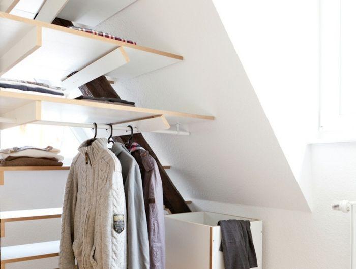 ▷1001+ idée pour un dressing sous pente gain de place - idee de rangement garage