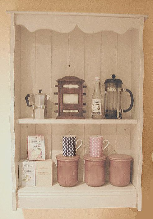 1950s Irish Dresser Wall Plate Rack Dryer Cottage Vintage Kitchen Housewares Display Shelf Country Home Dark Cream Shabby Chic From Ireland