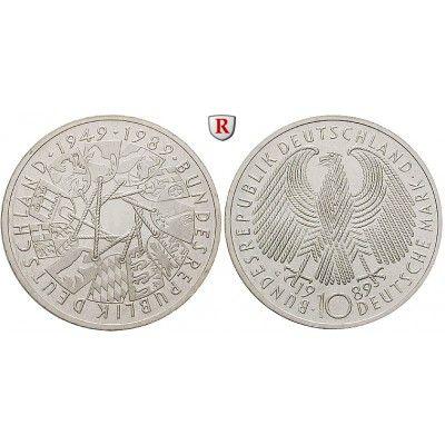 Bundesrepublik Deutschland 10 Dm 1989 40 Jahre Brd G Pp J 446