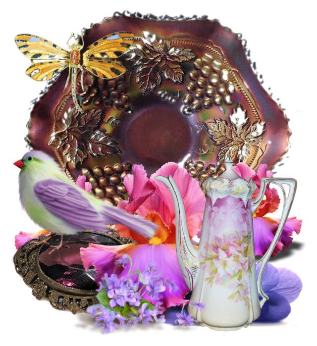 Purple Passion by pattysporcelainetc on Polyvore featuring Kunst, vintage and country