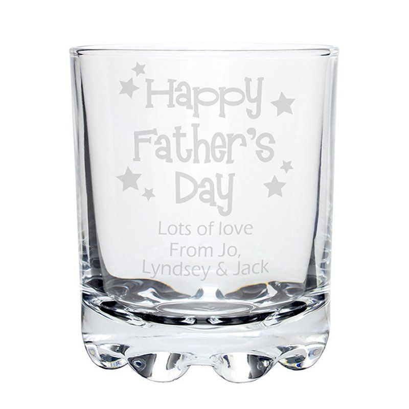 Personalised Happy Father/'s Day Glass Pint Stern Tankard