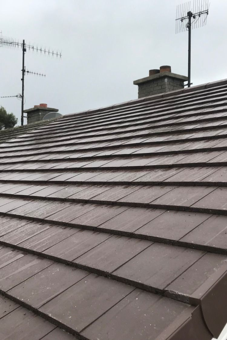 Dublin Roofers Removed All The Old Roof Tiles Felt And Timber Battens We Then Installed New Breathable Membran Roofer Roof Installation Emergency Roof Repair