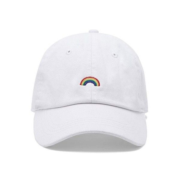 Forever21 City Hunter Rainbow Dad Cap (46 BRL) ❤ liked on Polyvore  featuring accessories 53320fc4e45