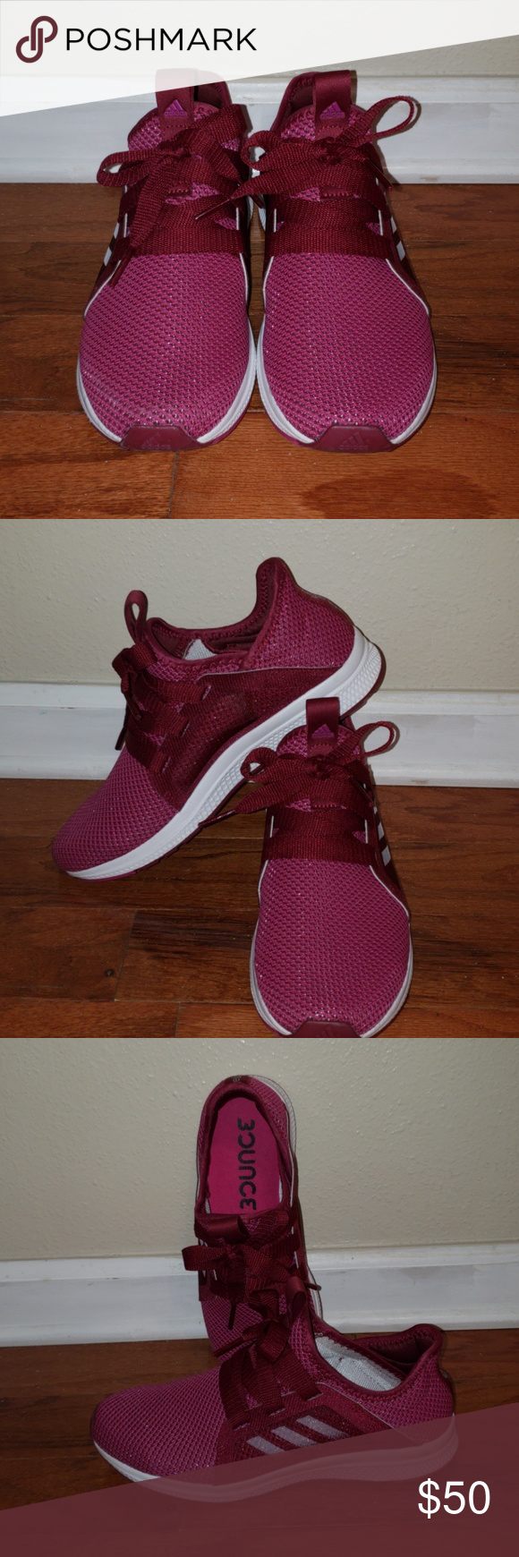 RunningShoes Tennis Maroon Color, Edge Lux, Bounce