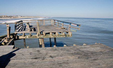 Hatteras Island Fishing Piers During And After Sandy Hatteras