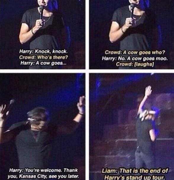 Harry's stand up tour