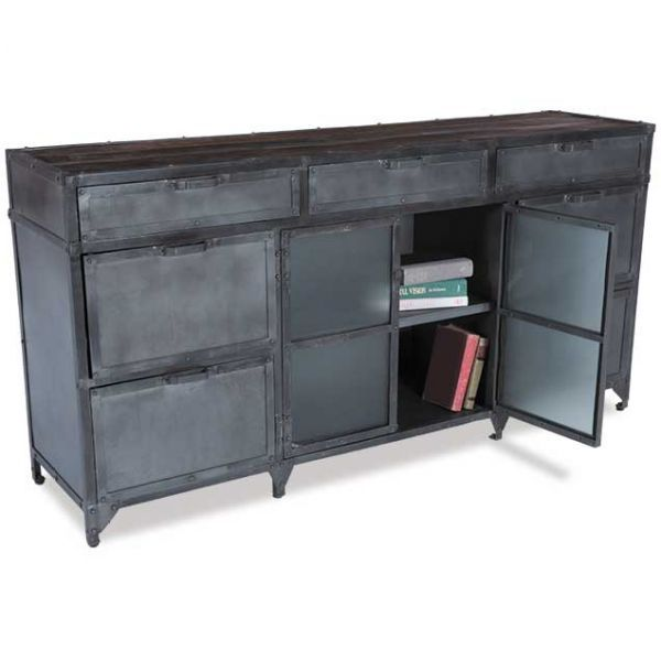 Iron 3 Drawer, 6 Door Cabinet