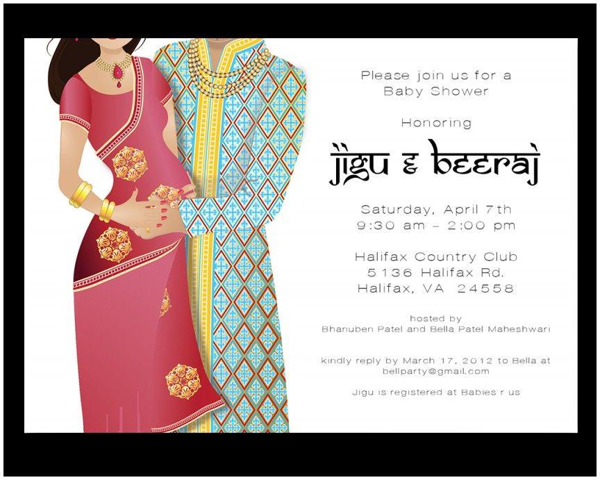 Elegant Baby Shower Invitation Card Indian Indian Baby Shower Invitations Couples Baby Shower Invitations Baby Shower Invitation Cards