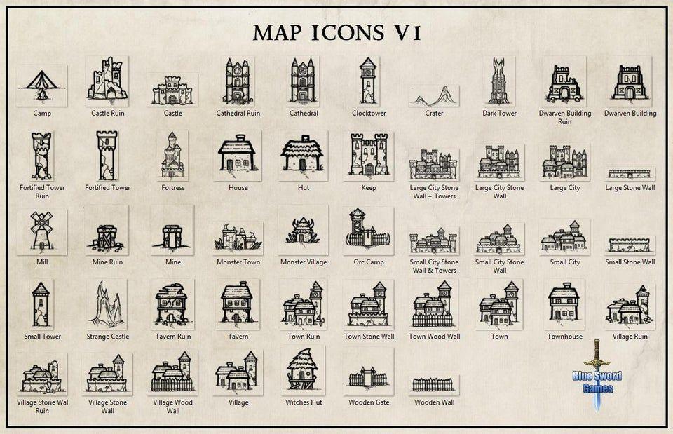 Map Icons V1 Wonderdraft Fantasy Map Making Map Icons