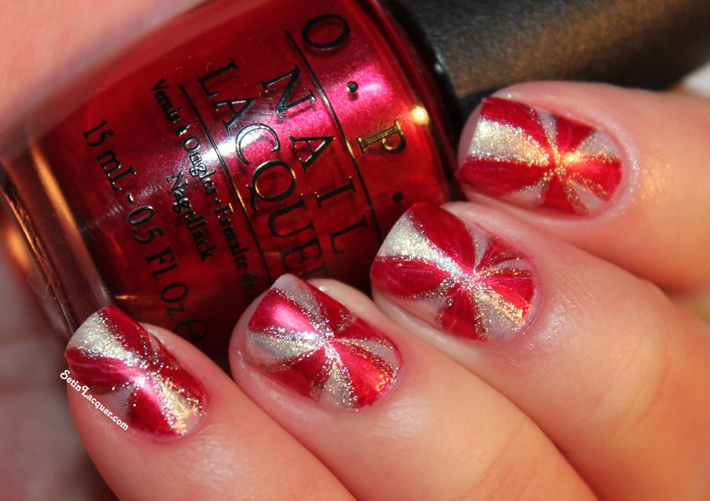 Peppermint Candy Nail Art Tutorial Set In Lacquer Nail Art
