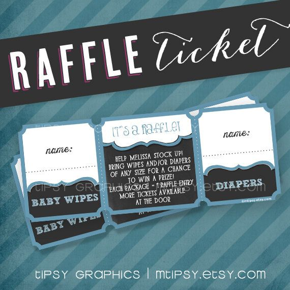 Raffle Ticket . 2 chances to win. Printable file. Made to Match ...