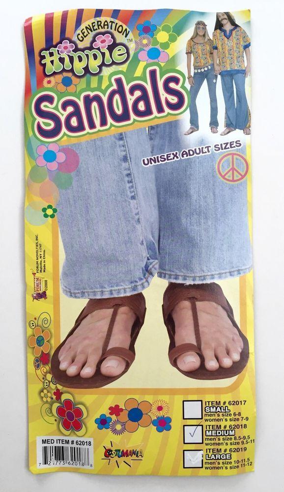 d142b5c3a745 Generation Hippie Sandals Unisex Halloween Costume Love Guru Adult Size M  Medium…