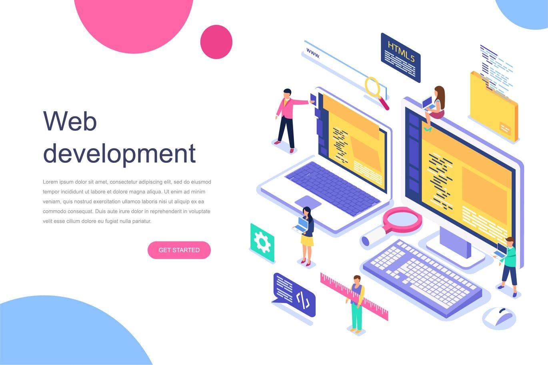 Web Development Isometric Concept By Alexdndz On Envato Elements Web Development Company Web Development Web Development Agency