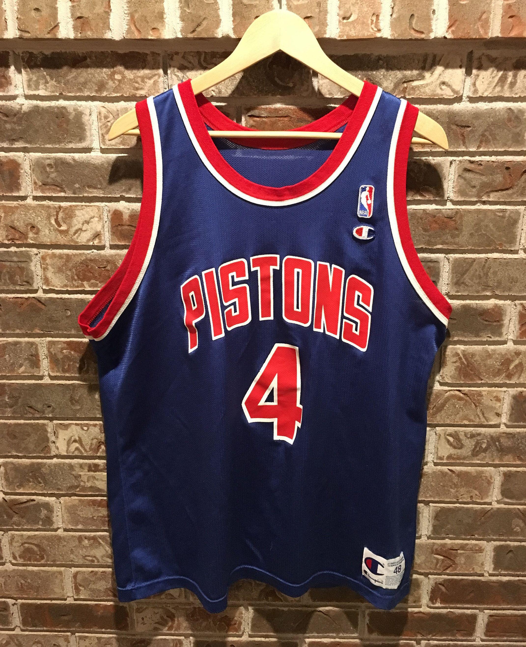 Vintage Detroit Pistons Joe Dumars Champion Basketball Jersey by