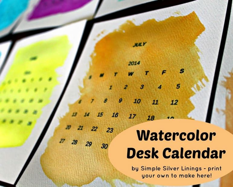 18 Easy DIY Art Projects You Can Make With Watercolors Calendar