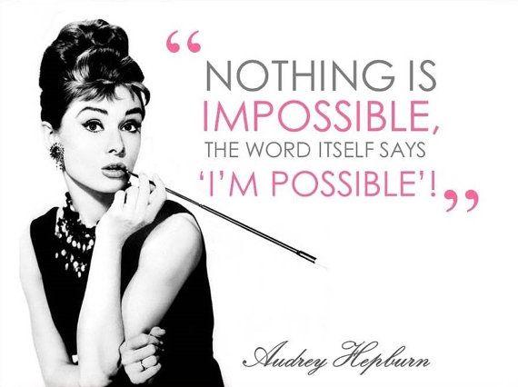 Audrey Hepburn Impossible Quote Wall Art Audrey Hepburn
