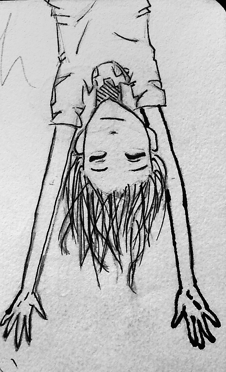 Upside Down Art Girl Hanging Upside Down By Gutgoatdeviantartcom On Deviantart