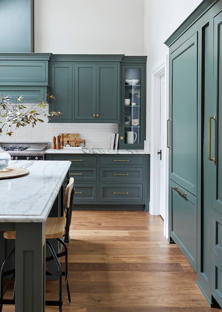 We Want These Green Kitchen Cabinets Stat Painted Kitchen