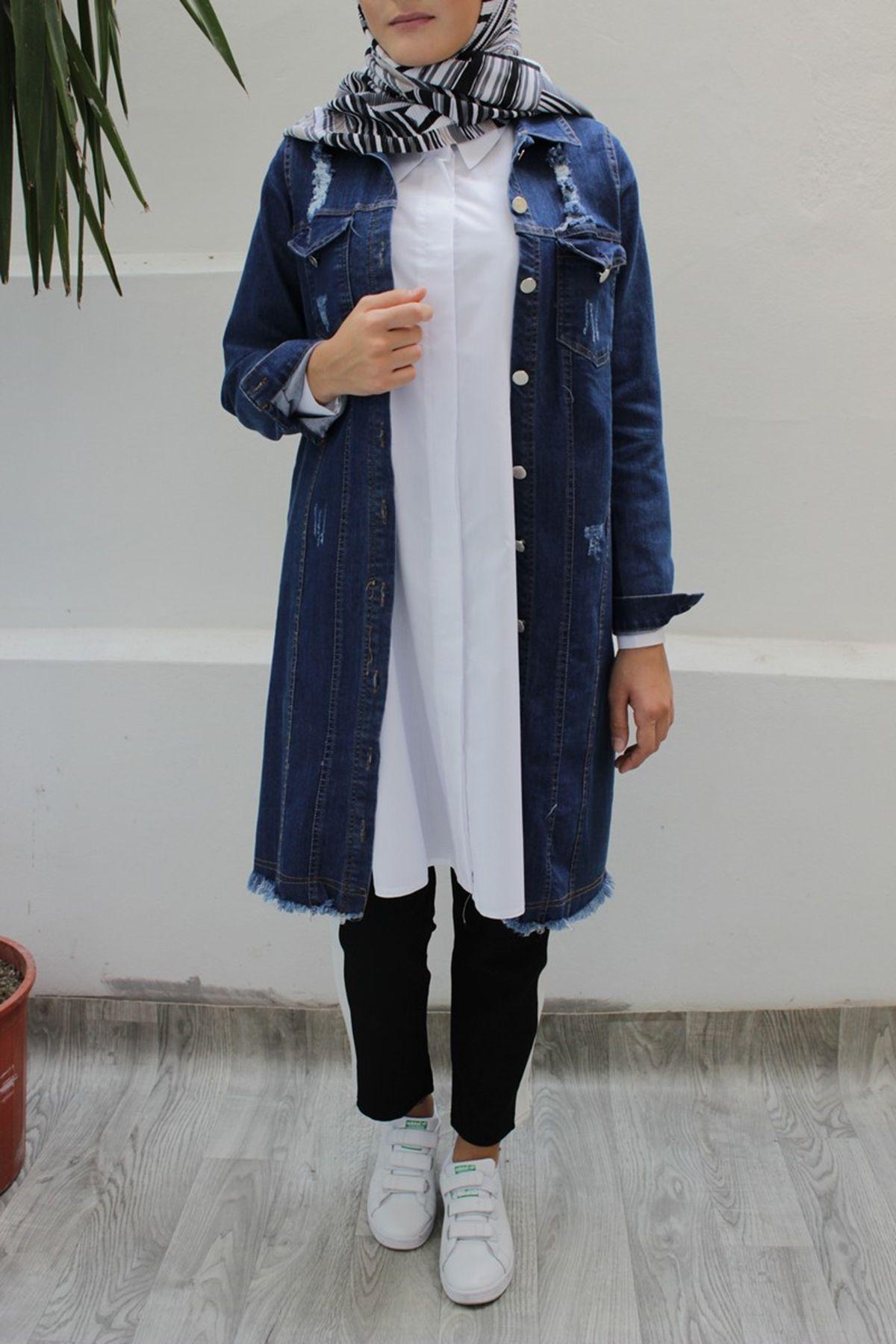 Modaonur Tesettur Uzun Kot Ceket Modelleri Moda Tesettur Giyim Kot Ceket Moda Moda Stilleri