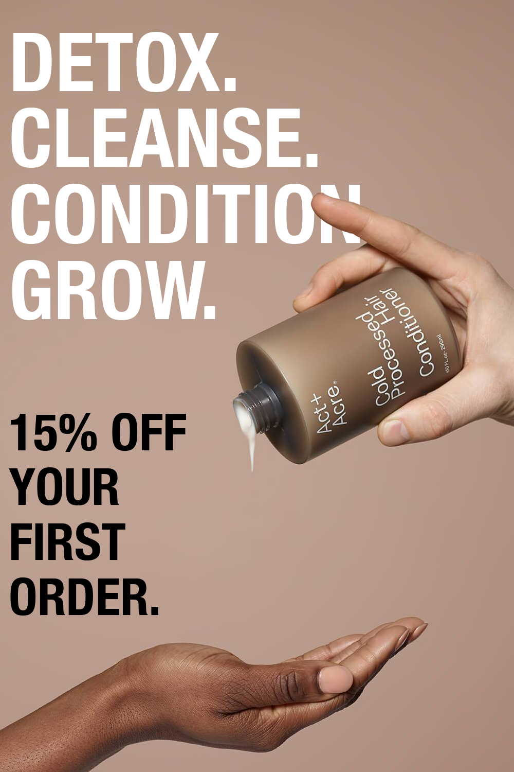 Time to Detox, Cleanse, Condition and grow your hair. Act