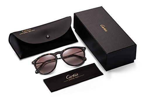 f1d2055557b Carfia Vintage Women s Polarized Sunglasses with UV400 Protection ...