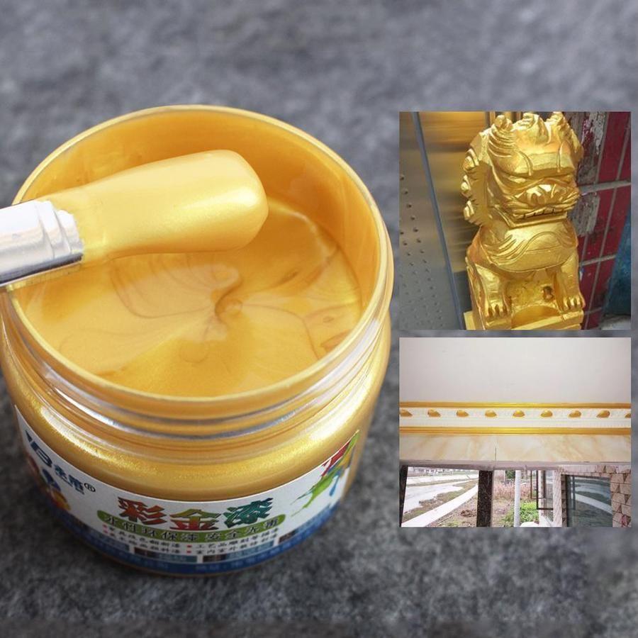 Gold Paint 100 G Metal Wood Paint Tasteless Water Based